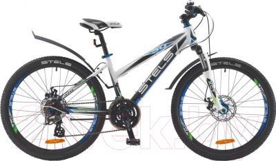 Велосипед Stels Navigator 470 MD 2016 (белый/черный/синий)