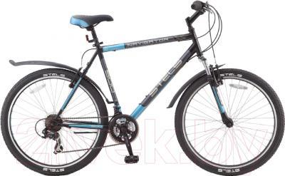 Велосипед Stels Navigator 500 V 2016 (21, черный/темно-серый/голубой)