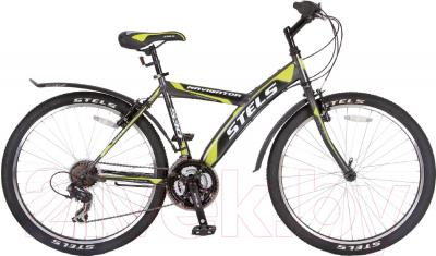 Велосипед Stels Navigator 530 V 26 2016 (18, серый/черный/салатовый)