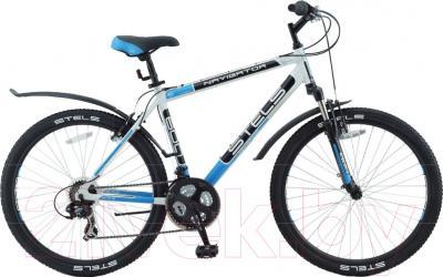 Велосипед Stels Navigator 600 V 2016 (19, белый/черный/синий)