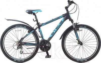 Велосипед Stels Navigator 650 V 2016 (21, черный/серебристый/голубой)
