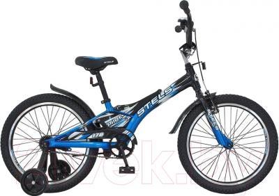 Детский велосипед Stels Pilot 170 2016 (20, черно/синий)