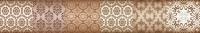Бордюр для ванной Уралкерамика Фрейя БД58ФР404 (82x500, коричневый/коричневый) -
