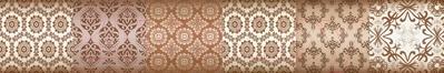 Бордюр Уралкерамика Фрейя БД58ФР404 (82x500, коричневый/коричневый)