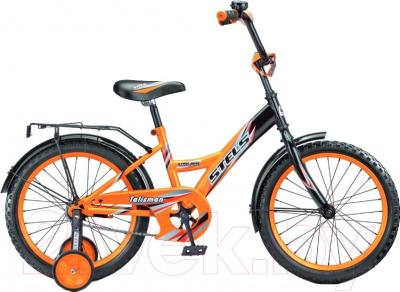 Детский велосипед Stels Talisman 2016 (16, черный/оранжевый)