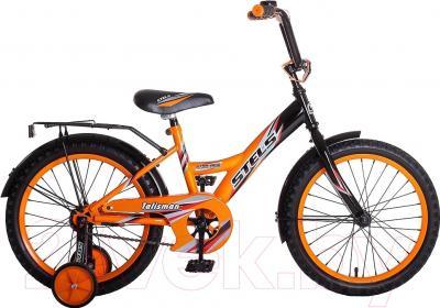 Детский велосипед Stels Talisman 2016 (18, черный/оранжевый)