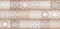 Декоративная плитка для ванной Уралкерамика Фрейя ВС9ФР004 (249x500, белый/коричневый) -
