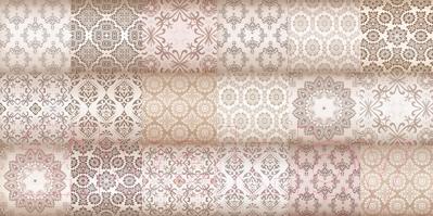 Декоративная плитка Уралкерамика Фрейя ВС9ФР004 (249x500, белый/коричневый)