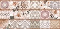 Декоративная плитка для ванной Уралкерамика Фрейя ВС9ФР404 (249x500, коричневый/коричневый) -