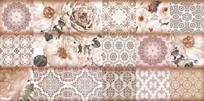 Декоративная плитка для ванной Уралкерамика Фрейя ВС9ФР404 (249x500, коричневый/коричневый)