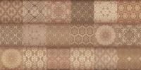Декоративная плитка для ванной Уралкерамика Фрейя ПО9ФР404 (249x500, коричневый/коричневый) -