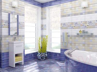 Декоративная плитка для ванной Уралкерамика Фрейя ПО9ФР404 (249x500, коричневый/коричневый)