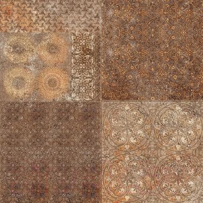 Плитка для пола Уралкерамика Фрейя ПГ3ФР404 (418x418, коричневый/коричневый)