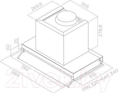 Вытяжка скрытая Elica Box In IX/A/60