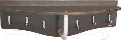 Вешалка для одежды Sheffilton Пилар 1 В2-24-1 (дуб венге/серебро перлато)