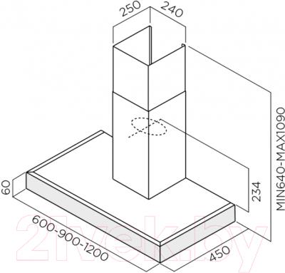 Вытяжка Т-образная Elica Spot Plus IX/A/90