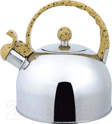 Чайник со свистком Bekker BK-S307 - чайник со свистком с желтой ручкой/уточняйте при заказе