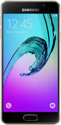 Смартфон Samsung Galaxy A3 2016 / A310F/DS (золото)