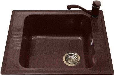 Мойка кухонная Polygran F-20 (коричневый)