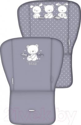 Детская прогулочная коляска Lorelli Combi (Gray Friends) - вид вкладыша с двух сторон