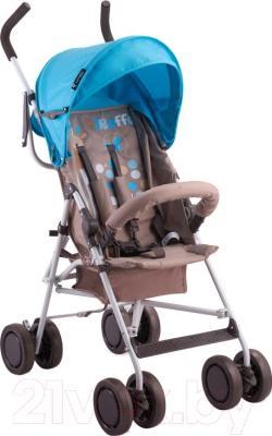Детская прогулочная коляска Lorelli Trek Beige Blue Giraffe (10020881643)