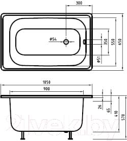 Ванна стальная Estap Mini 105x65