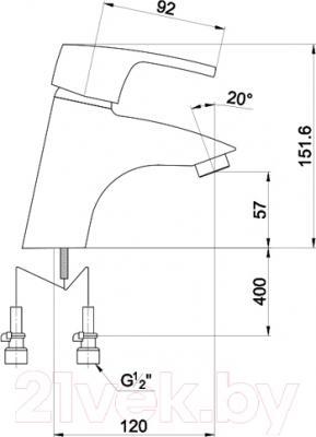 Смеситель Timo Beverly 0051 F (черный) - схема