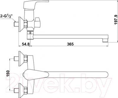 Смеситель Timo Beverly 2105 Y-CR (хром) - схема