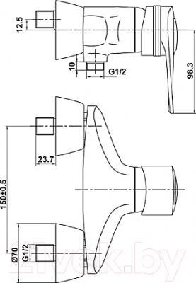 Смеситель Timo Capital 0017 Y (хром) - схема