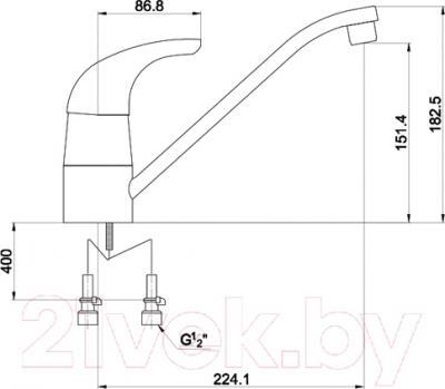 Смеситель Timo Premiera 0023 F (хром) - схема