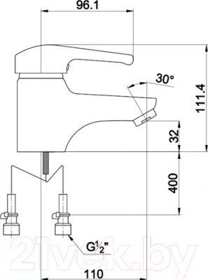 Смеситель Timo Classic 0041 F (хром) - схема