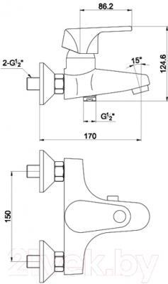 Смеситель Timo Nordic 0154 Y (хром) - схема