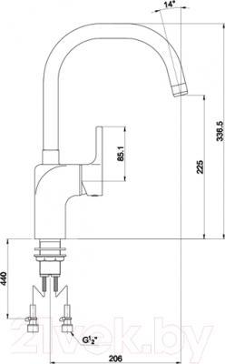 Смеситель Timo Polo 0166 FN-U (хром) - схема