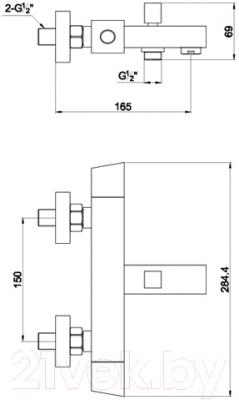Смеситель Timo Tetra 0174 Y (хром) - схема