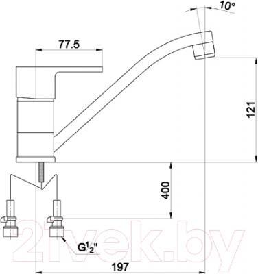 Смеситель Timo Supra 1413 F (хром) - схема