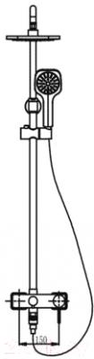 Душевая система Timo Hette SX-1020 Z (хром)