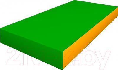 Гимнастический мат Romana ДМФ-ЭЛК 14.00.00 (зеленый/желтый)