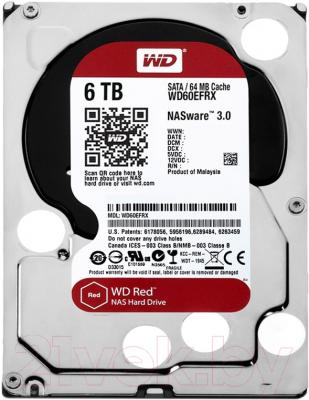 Жесткий диск Western Digital Red 6TB (WD60EFRX)