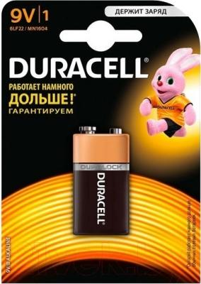 Батарейка PP3 (Крона) Duracell 6LF22/MN1604 (1шт)