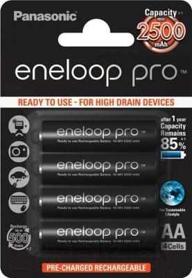 Аккумуляторы AA Panasonic Eneloop Pro BK-3HCDE 4BP
