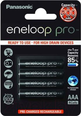 Аккумуляторы AAA Panasonic Eneloop Pro BK-4HCCE 4BP