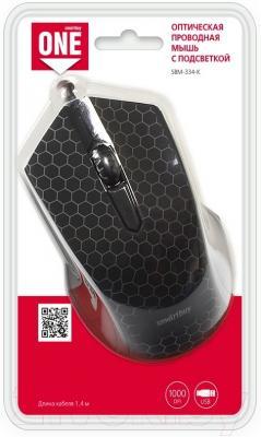 Мышь SmartBuy One 334 / SBM-334-K (черный)