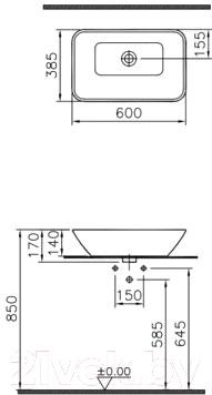 Умывальник VitrA Geo 60x39 (4425B003-0016)