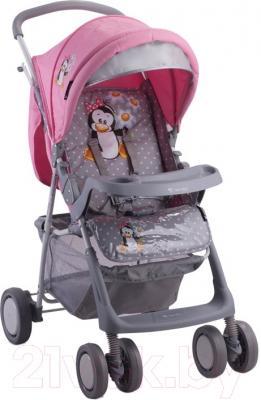 Детская прогулочная коляска Lorelli Star (Pink Penguin)