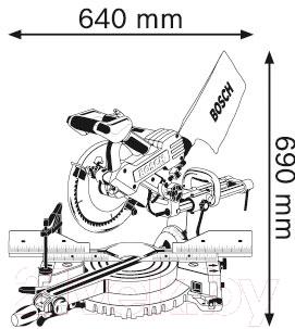 Профессиональная торцовочная пила Bosch GCM 10 SD Professional (0.601.B22.508)