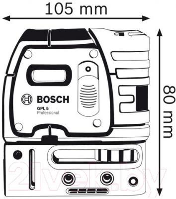 Лазер точечный Bosch GPL 5 Professional (0.601.066.200)