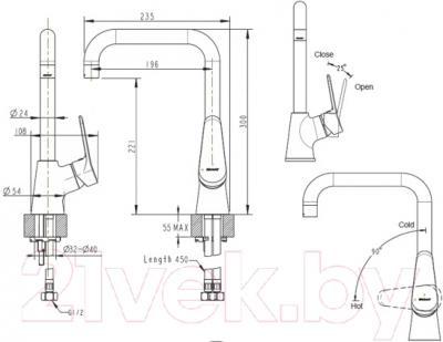 Смеситель Bravat Eco F7111147C