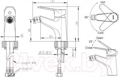 Смеситель Bravat Eco F3111147C - схема