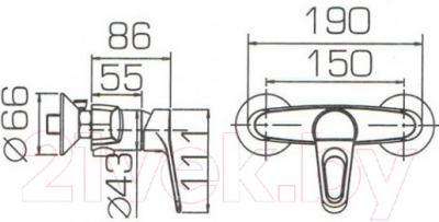 Смеситель Bravat Eco-D F9111158C-01
