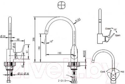 Смеситель Bravat Drop F74898C-1